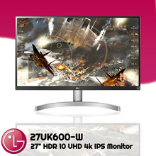 LG Monitor [27UK600-W]  HDR 10 UHD 4k IPS sRGB 99% Freesync 27 Inch 3 Years Warranty