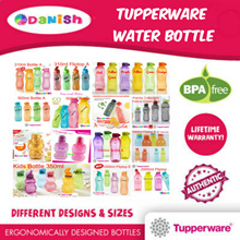 ★Authentic TupperWare★ Aquasafe Eco Fliptop Water Bottle *BPA Free* School Cycle Sports Birthday