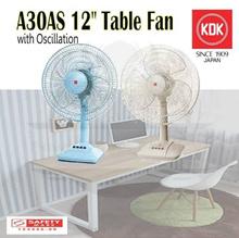 KDK TABLE FAN 30CM PLASTIC BLADE A30AS / DESK FAN / 12 INCH TABLE FAN / SMALL AND PORTABLE FAN