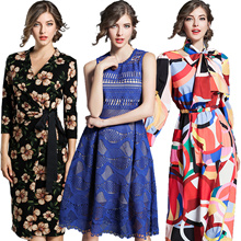 Promotions  High quality dress elegant dress/European British style/Office dresses/Long