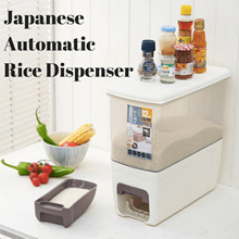 ❤PREMIUM QUALITY Japanese Automatic Rice Dispenser Storage (12kg)/Rice Container❤