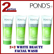 [SPECIAL PRICE][2+2] 4 x 100g Ponds White Beauty Naturals Mineral Exfoliating Facial Wash