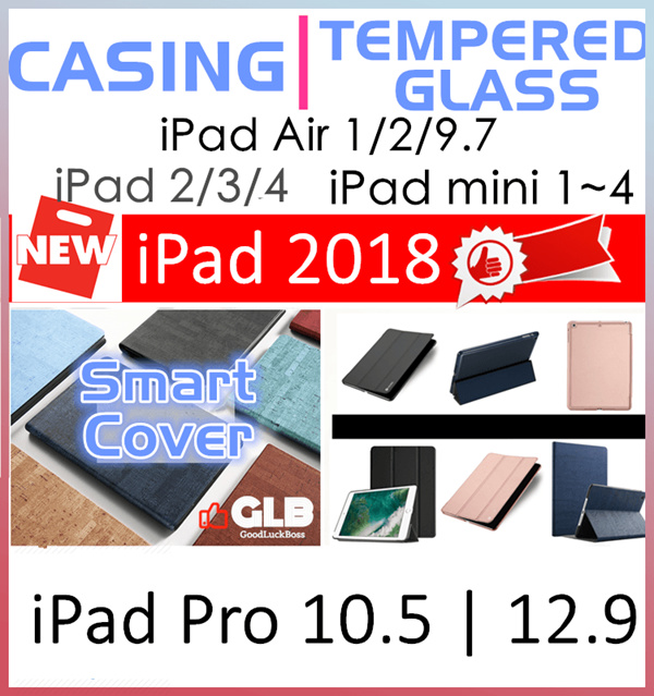 New iPad 9.7 2018?iPad Pro 10.5?12.9 2017?2?3?4?Mini 4?Pro 9.7?Tempered Glass Screen Protector?Case Deals for only S$50 instead of S$0