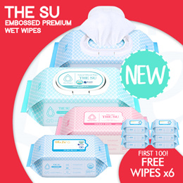 [YK]【FREE SHIPPING】THE SU - Premium embossed wet wipes! | Made in Korea
