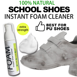 ♥INSTANT FOAM SHOE WASH♥Sneakers /SCHOOL SHOE Cleaner! No parabens SLS alcohol