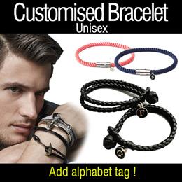 ♥Customized Bracelet♥KOREAN 2018 UNISEX Trending Anchor Woven PU Trending COUPLE Leather Bracelet!