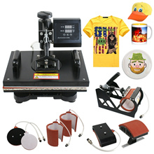 8in1 Heat Press Machine Digital Transfer Sublimation T-Shirt Mug Hat Plate Cap(5 models) 烫画机热转印机器多功能