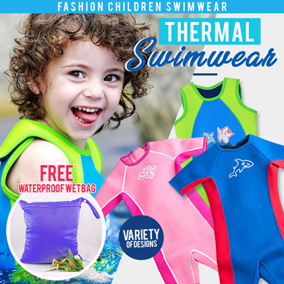 de5ca5452b Children thermal swimwear /Swimming Suit /Kids Keep Warm Snorkeling /  diving/float/