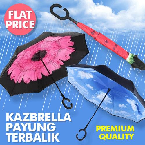 super sale!!!!! payung terbalik kazbrella terlengkap pencetan merah Deals for only Rp95.000 instead of Rp95.000