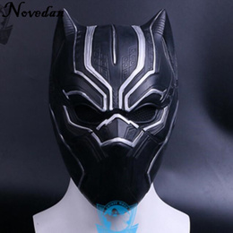 New 2018 Solid 3D Black Panther Mask Movie Fantastic Four Cosplay Men s Silicone Party Masks For Hal