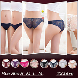 Ladies Sexy Lace Panties/10Colors S M L XL /seamless panty/Underwear/Victorias secret