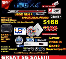 ♛★100% CHEAPEST UBOX/UPAD★UNBLOCK Tech TV BOX UBOX Gen4 Bluetooth SG Local version-Mobile Link View!