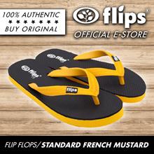 ★NEW★[Flips™]★FRENCH MUSTARD★100% Rubber Slippers/Comfort Flip-flops/Non-skid/Flexible/Breathable