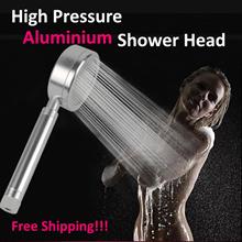 Latest Version Aluminum Shower Head /High pressure / water saving / Stainless Hose/ stick Holder