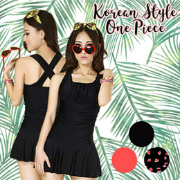 Cute Korean Style one Piece Women/Ladies/Swimwear/Swimming suit/Swimming Wear
