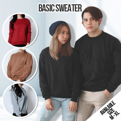 BASIC SWEATER FOR UNISEX Deals for only Rp70.000 instead of Rp70.000
