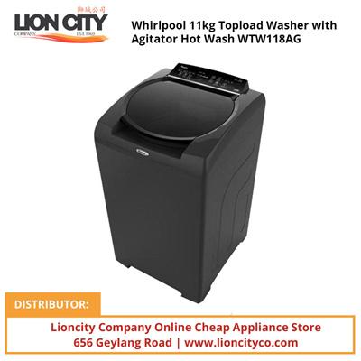 Whirlpool Washer With Agitator >> Qoo10 Whirlpool 11kg Topload Washer With Agitator Hot Wash