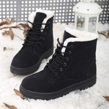 Winter boots women snow boots Antiskid cotton boots winter shoes withstand -20 degree