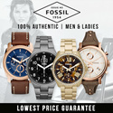 [CHEAPEST 4SKU NO OPTION PRICE] FOSSIL for men and women 100% AUTHENTIC GENUINE LEATHER AND STAINLESS STEEL WATCHES.