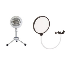 Blue Microphones Snowball Plug & Play USB Microphone Black Bundle with Pop Filter and Studio Head...