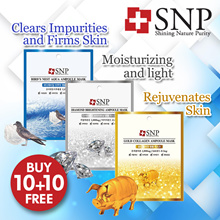 ❤[Buy 10+10 Free!]❤  SNP Ampoule Masks! 7 Most Prestigious Ingredients❤With SNPs most famous masks!