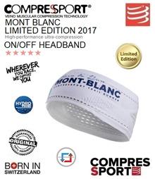 Compressport UTMB Limited Edition On/Off Headband White. FREE SHIPPING!!!
