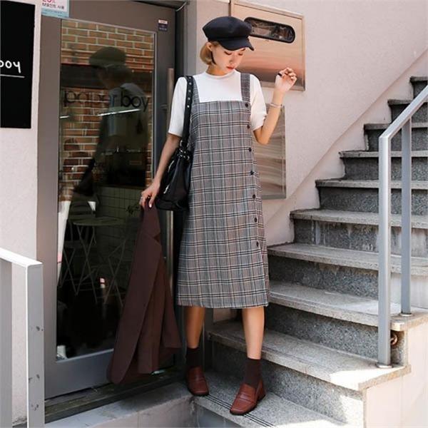 174のエリー・詩語ビュスチェワンピースnew 無地ワンピース/ワンピース/韓国ファッション