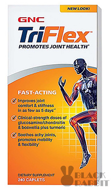 [Free Qprime]【Joint Health】GNC Triflex Fast-Acting 240cap w Boswellia and Turmeric Extract EXP2021