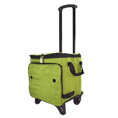 962240fbeeff DALIX Rolling Cooler Thermal Insulated Trolley Bag Sports Leak Proof Black  Gray