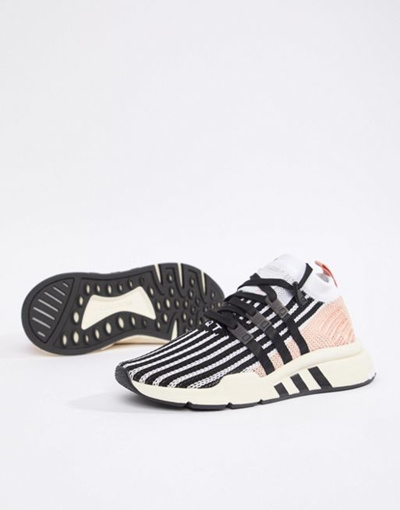 Qoo10 Adidas Originals Eqt Support Mid Adv Sneakers In Black And