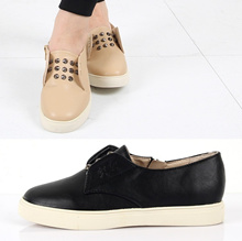 Fashionable Stud Slip-On Sneakers 2color # s560