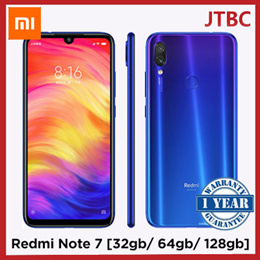 Redmi Note 7 32/64/128GB with GLOBAL Version Export set with FREE upgrade to 1 YEAR Xiaomi Warranty