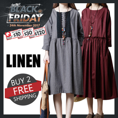 cb063c233a 【BUY 2 FREE SHIPPING】High Quality Japanese Linen Apparels Cotton Dress  Japan Linen / Plus Size Dress