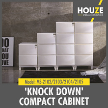 2/3/4/5 Tier Knock Down Compact Cabinet  ♦Strong And Durable ♦ 00% Virgin PP | From  $14.9 ~ 49.9