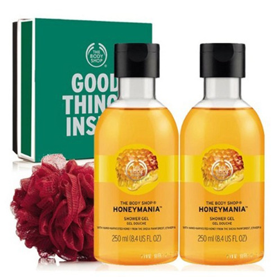 [Skin moisturizing, ck-099] The Body Shop Honey Mania Shower Gel Gift Set  Skin moisturizing moist sk