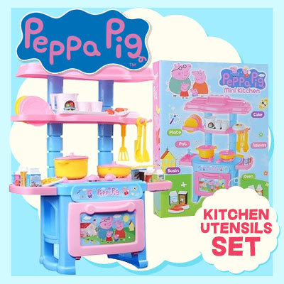 qoo10 kitchen utensils set play house peppa pig ForQoo10 Kitchen Set