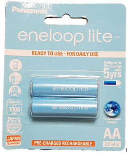 Bundle 2 packets promotion!  Panasonic Eneloop Lite  AAA rechargeable battery BK-3LCCE/4BT