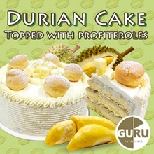 POPULAR! Freshly Baked  20CM/8 Inch Durian Cake from Guru Nice Bakery!!! (Worth $78)