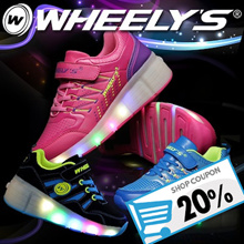 [WHEELYS] Women Men Children Kids LED ROLLER Shoes 19 kinds / Running Shoes