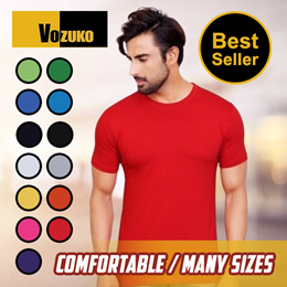 [Flash Deal] Cotton Plain t shirt Round Neck | Assorted Colours S - 4 XL T shirt  plus size unisex short sleeve