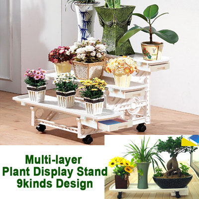 e55ff45b4 Multi-layer Plant Display Stand☆Gardening Balcony  Shelves☆Honeycomb/Indoor/Outdoor Movable Rack