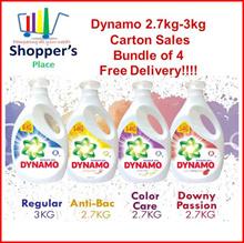 Dynamo[Bundle of 2/4] Dynamo 2.7kg-3kg X 2/4 Regular |  Colour | Downy | Anti Bacterial | Odor/Indoo