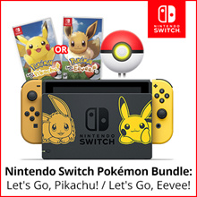 Nintendo Switch Console System  Pokemon lets Go Pikachu/Eevee Edition [Jap Export Set]