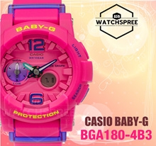 *CASIO GENUINE* CASIO BABY-G Tide Graph Ana-Digi Watch BGA180-4B3! Free Shipping and Warranty!