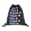 Fashion Emoticons Cute 3D Pattern Travel Backpack Soft Harlem Sugar Rope Bag Outdoor Backpack on the