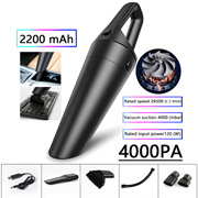 Portable Car Vacuum Cleaner Wireless Handheld 4000Pa Auto Car Interior Cleaner Home Indoor Mini Vacu
