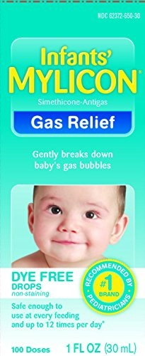 Digestion & Nausea Mylicon Infant Drops Anti-gas Relief Dye Free Formula,  1 0 Fluid Ounce Per Bottle