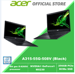 Acer Aspire 3 A315-55G-508V (Black) 8th Gen Core i5 with NVIDIA® GeForce® MX230