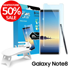 [50%SALE]WhitestoneDome[GalaxyNote8] Tempered Screen Protector Superior Touch Sensitiv