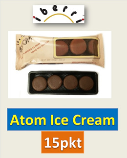 [Novelty Ice Cream] *Atom* ● Vanilla Ice Cream Coated with Chocolate ● Halal-Certified ● Free Cooler